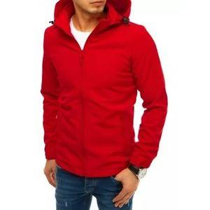 Pánska bunda softshell s kapucňou červená SPORT vyobraziť