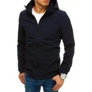Pánska bunda softshell s kapucňou modrá SPORT vyobraziť