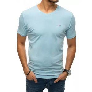 Pánske tričko bez potlače bledomodrá MARK vyobraziť