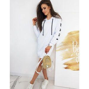 Dlhá dámska mikina Over Long v bielej farbe vyobraziť