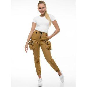 Kamelové jogger nohavice vyobraziť