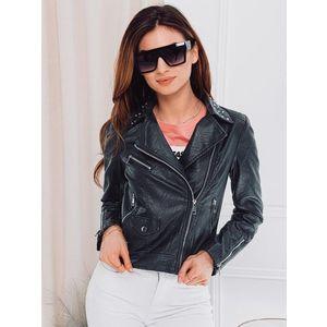 Trendy dámska čierna motorkárska bunda CLR002 vyobraziť