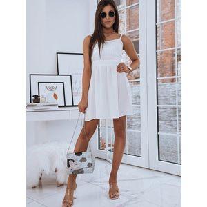 Jednoduché ecru šaty Lola vyobraziť