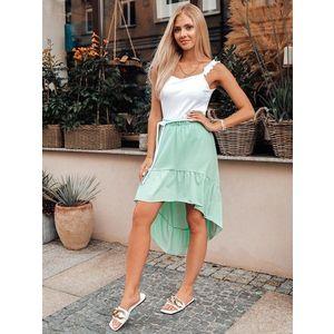 Neobyčajná mätová dámska sukňa GLR014 vyobraziť