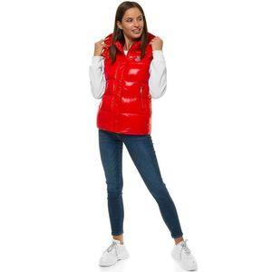 Neobyčajná červená dámska prešívaná vesta O/SW025/4 vyobraziť