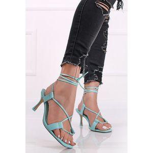 Mätové šnurovacie sandále na tenkom podpätku Lust vyobraziť