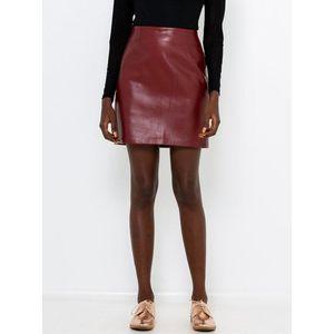 Vínová koženková sukňa CAMAIEU vyobraziť