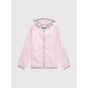 United Colors Of Benetton Nepremokavá bunda 2EO053HI0 Ružová Regular Fit vyobraziť