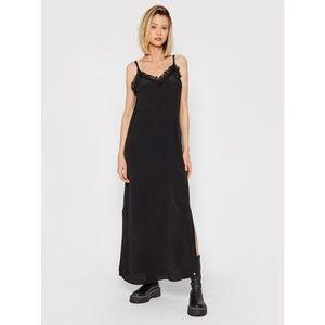 Pepe Jeans Večerné šaty Amada PL952896 Čierna Regular Fit vyobraziť