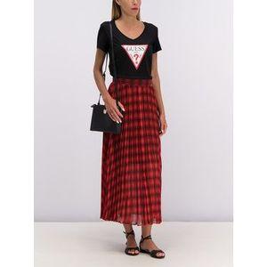 Guess Plisovaná sukňa Mafalda W93D74 WBUD0 Červená Regular Fit vyobraziť