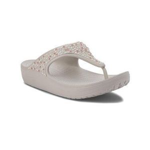Crocs Žabky Sloane Embellished Flip 204181 Sivá vyobraziť