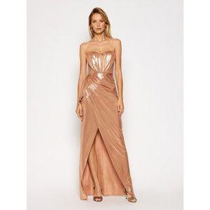 Elisabetta Franchi Večerné šaty AB-093-07E2-V489 Zlatá Slim Fit vyobraziť