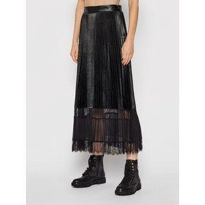 TWINSET Plisovaná sukňa 212TP2090 Čierna Regular Fit vyobraziť
