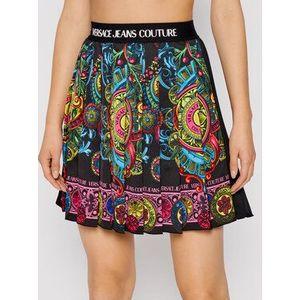 Versace Jeans Couture Plisovaná sukňa 71HAE8P1 Čierna Regular Fit vyobraziť