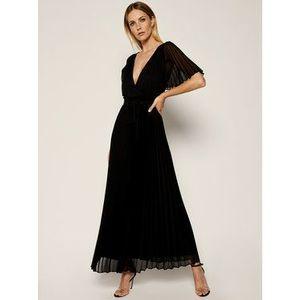 Marella Večerné šaty Ipoteca 32211002 Čierna Regular Fit vyobraziť