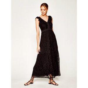 Liu Jo Večerné šaty FA0338 J4025 Čierna Regular Fit vyobraziť
