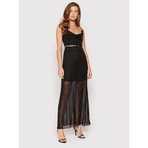 Guess Večerné šaty Anna W1YK0J KAQO0 Čierna Slim Fit vyobraziť