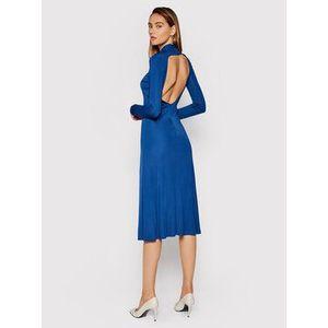 Patrizia Pepe Večerné šaty 8A0898/A9C2-C886 Modrá Regular Fit vyobraziť