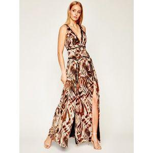 Marciano Guess Večerné šaty Printed Poly GGT 02G811 7068Z Hnedá Regular Fit vyobraziť