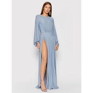 Elisabetta Franchi Večerné šaty AB-058-16E2-V550 Modrá Slim Fit vyobraziť