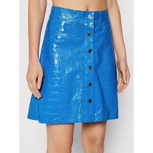 Remain Kožená sukňa Carmela Short RM366 Modrá Slim Fit vyobraziť