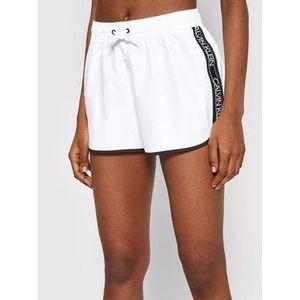 Calvin Klein Swimwear Plážové šortky KW0KW01361 Biela Regular Fit vyobraziť