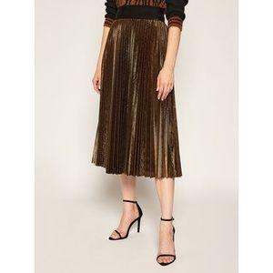 Liu Jo Plisovaná sukňa WF0475 J4032 Zlatá Regular Fit vyobraziť