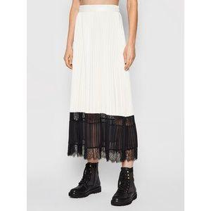 TWINSET Plisovaná sukňa 212TP2090 Biela Regular Fit vyobraziť