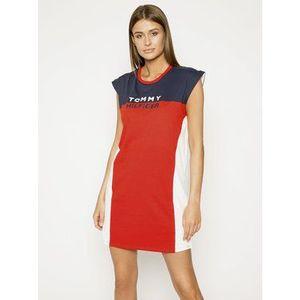 Tommy Hilfiger Plážové šaty UW0UW02162 Červená Relaxed Fit vyobraziť