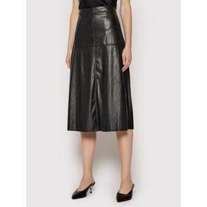 Max Mara Leisure Kožená sukňa Carioca 37760416 Čierna Regular Fit vyobraziť