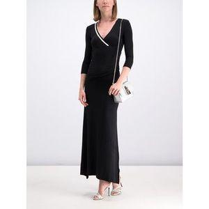 Patrizia Pepe Večerné šaty 2A1911 A4XN K103 Čierna Regular Fit vyobraziť