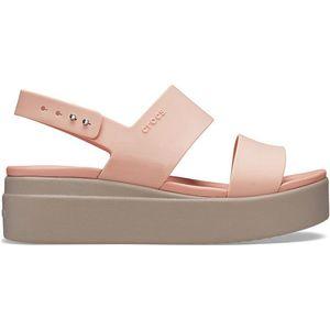 Crocs Dámske sandále Crocs Brooklyn Low Wedge W Pale Blush/Mushroom 206453-6RT 39-40 vyobraziť