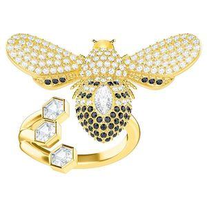 Swarovski Extravagantné pozlátený prsteň s krásnou včielkou Lisabel 5409022 52 mm vyobraziť