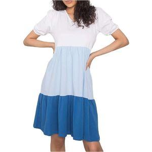 Ležérne šaty kylie - biela-svetlo modrá- tmavo modrá rv-sk-6764.64-whit vyobraziť