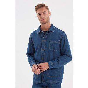 Trendyol Indigo Men Regular Fit Pocket Denim Shirt Jacket vyobraziť
