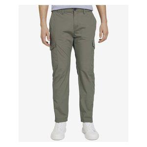 Voľnočasové nohavice pre mužov Tom Tailor - zelená vyobraziť