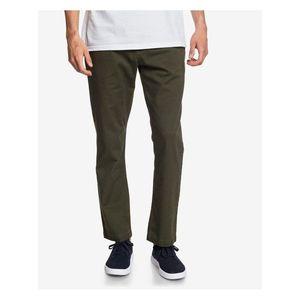 Voľnočasové nohavice pre mužov Quiksilver - zelená vyobraziť