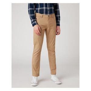 Voľnočasové nohavice pre mužov Wrangler - hnedá, béžová vyobraziť