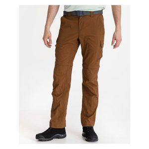 Voľnočasové nohavice pre mužov Columbia - hnedá vyobraziť