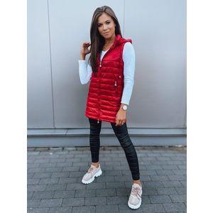 Moderná prešívaná dámska vesta Jess červená vyobraziť