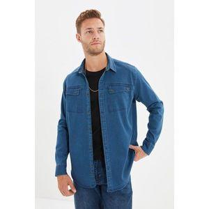 Trendyol Indigo Men Regular Fit Double Pocketed Shirt Collar Shirt vyobraziť