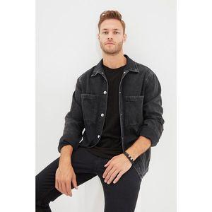 Trendyol Anthracite Men Regular Fi Double Pocket Denim Shirt Jacket vyobraziť