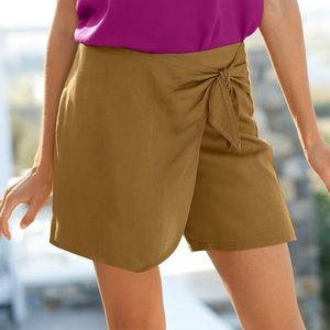 Sukňa nohaviceová medová tmavá 44 vyobraziť
