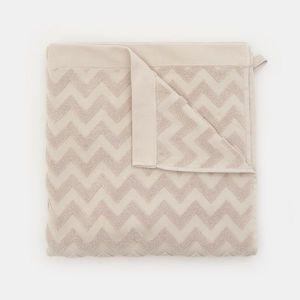 Sinsay - Bavlnený uterák, 70 cm × 140 cm - Svetlošedá vyobraziť