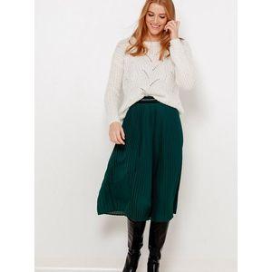Zelená plisovaná sukňa CAMAIEU vyobraziť