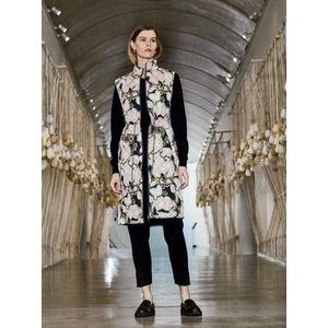 Béžová dámska vzorovaná dlhá vesta ICHI vyobraziť