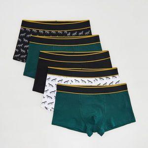 Reserved - Men`s boxer shorts - Khaki vyobraziť