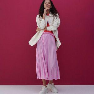 Reserved - Plisovaná sukňa - Ružová vyobraziť