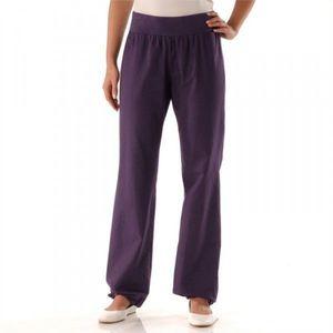 Ľanové nohavice purpurová 36 vyobraziť
