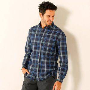 Kockovaná košeľa s dlhými rukávmi námornická modrá 49/50 vyobraziť